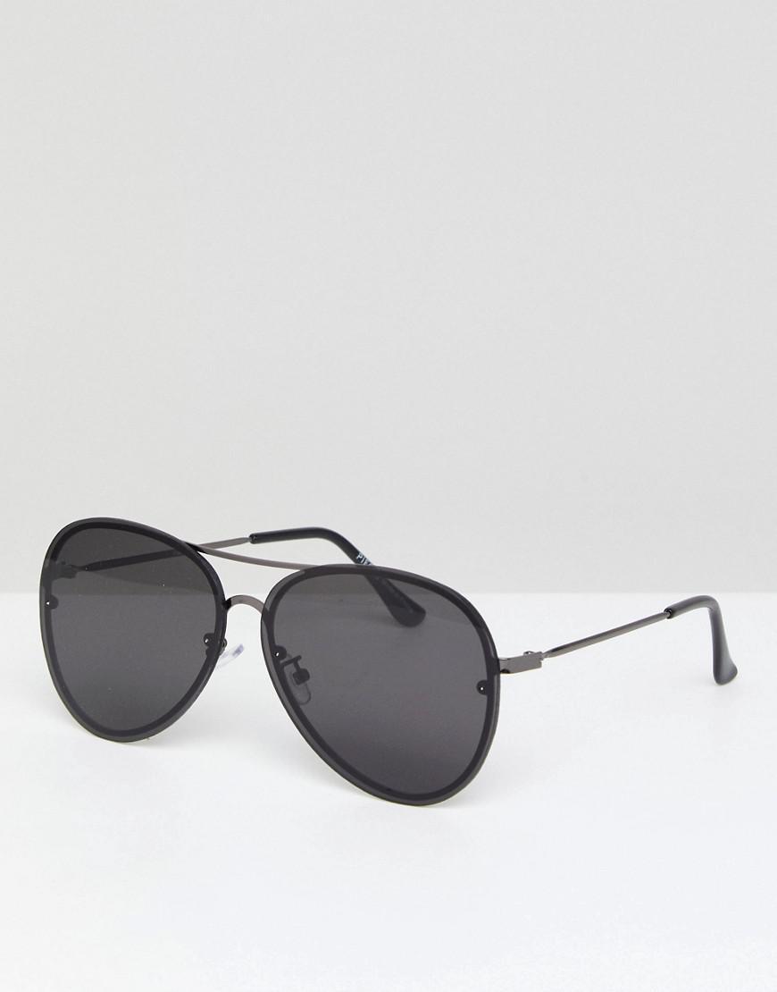 c75c2f07952 Pieces Aviators Sunglasses in Black - Lyst