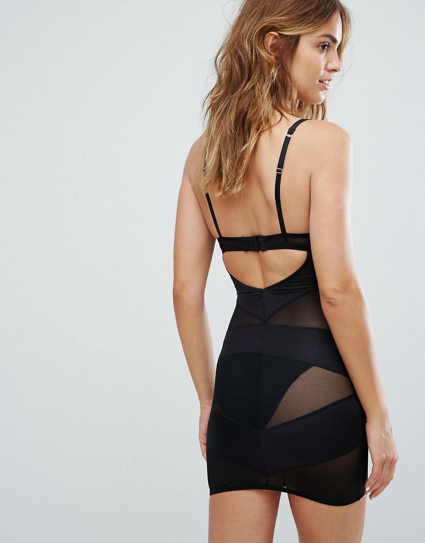 f0bff639b New Look Solutions Shaping Slip Dress in Black - Lyst