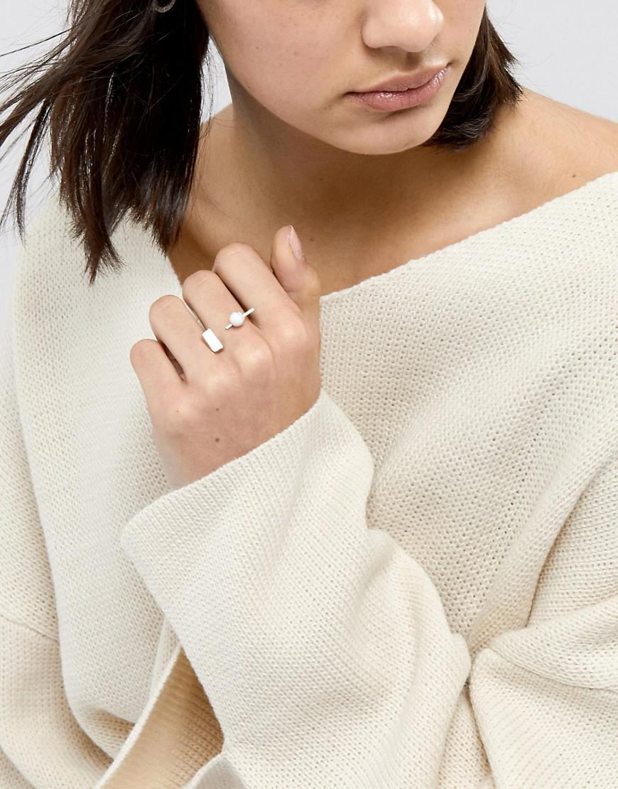 Limited Edition Geometric Semi-Precious Marble Ball Ring - Gold Asos With Paypal Cheap Online dKAm4Vd
