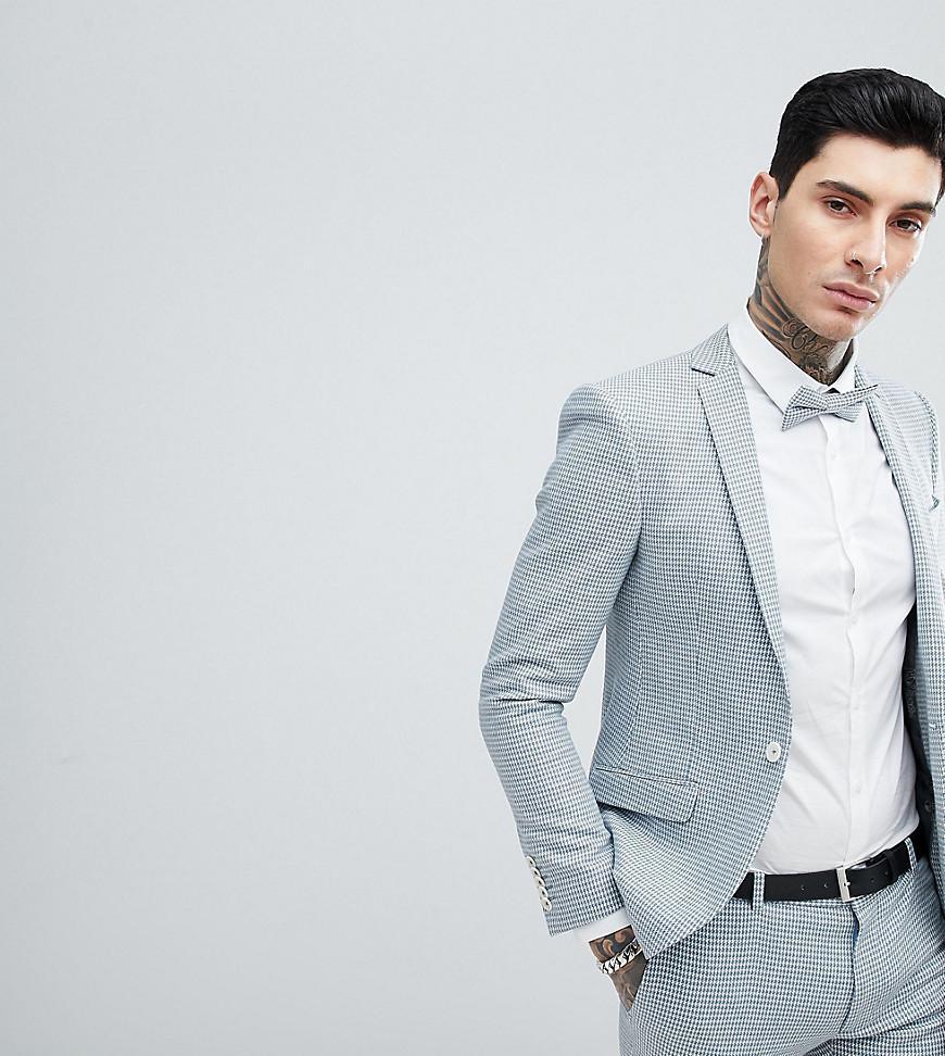 Lyst - Veste de costume de mariage super slim motif pied-de-poule ... 8b416e80a9d