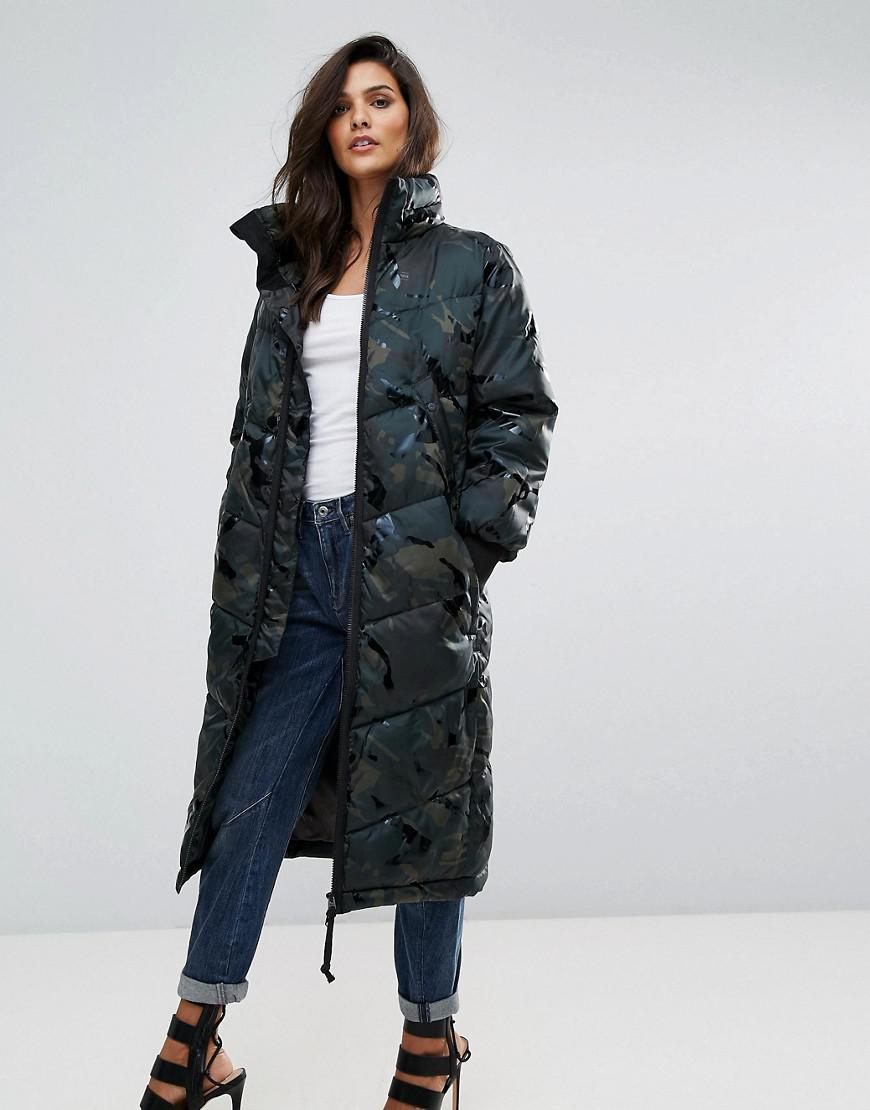 G Star Raw Synthetic Alaska Boyfriend Camo Padded Jacket