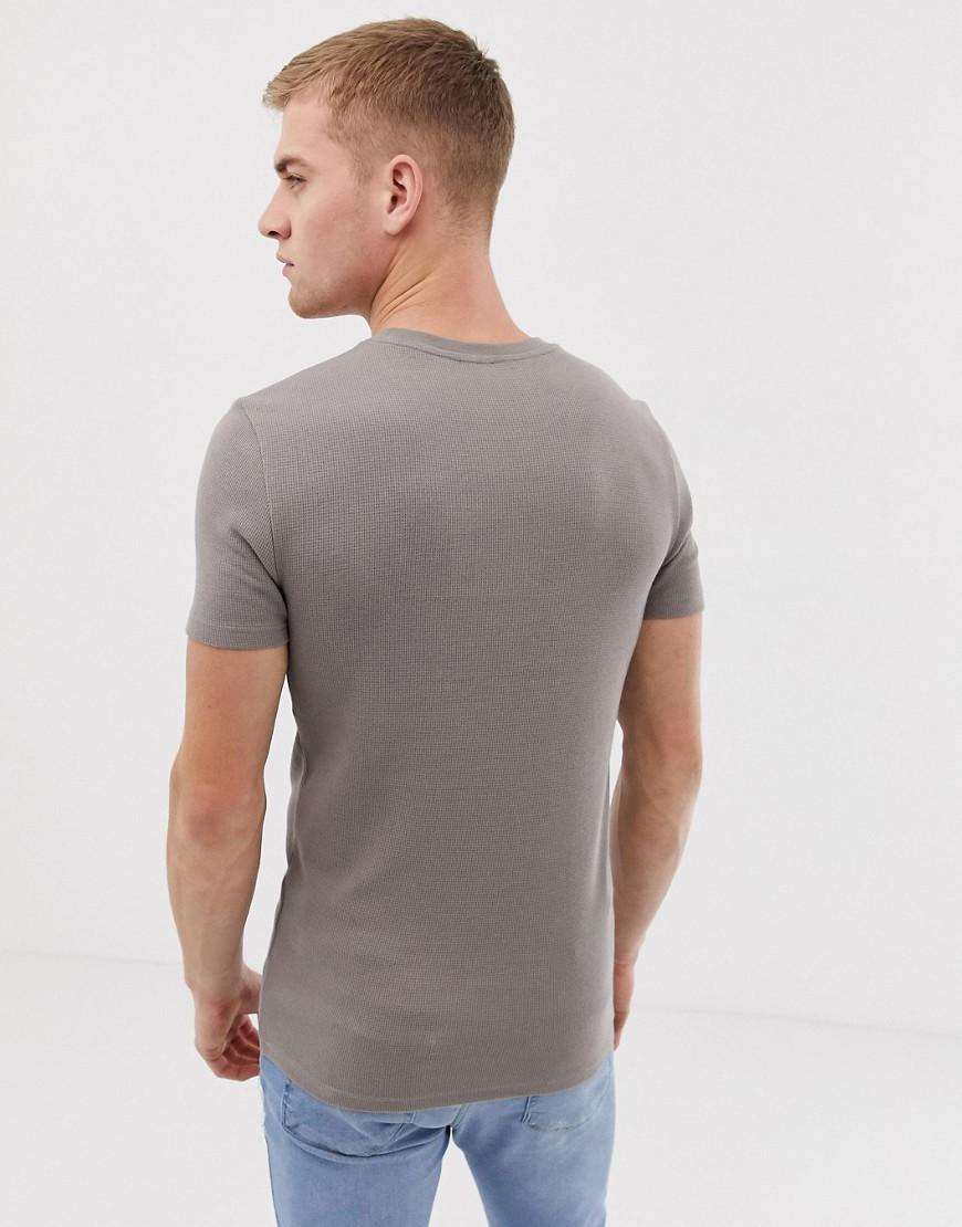295335e0 ASOS Muscle Fit Crew Neck T-shirt With Stretch In Waffle In Beige in Natural  for Men - Save 14% - Lyst