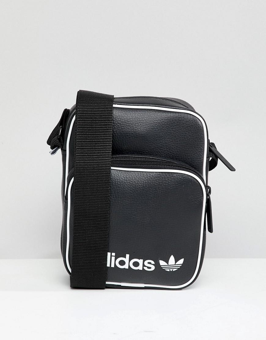 adidas Originals Large Flight Bag In Black Dh1006 in Black for Men ... 2615950daecf7