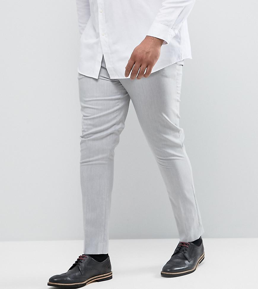 271a23437fe6 Lyst - ASOS Asos Plus Super Skinny Pants In Pale Grey in Gray for Men