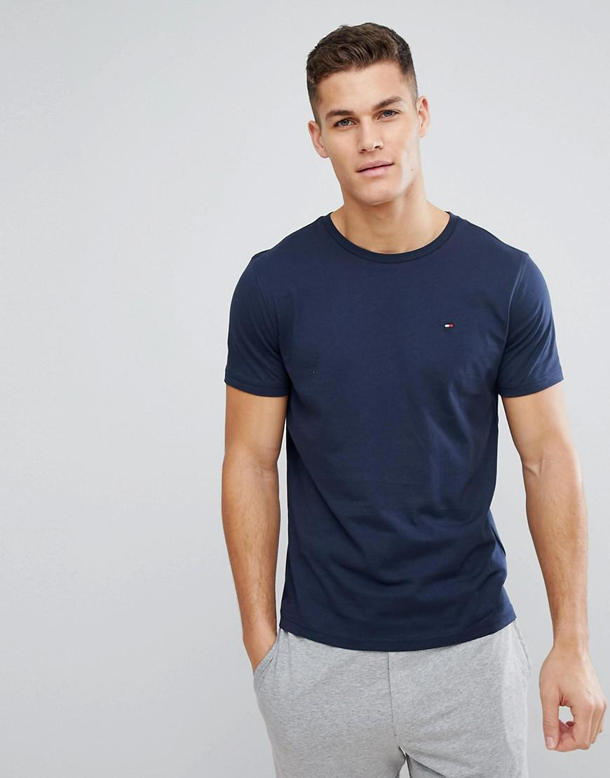 e150756ae3db64 Tommy Hilfiger Flag Icon T-shirt In Organic Cotton In Navy in Blue ...