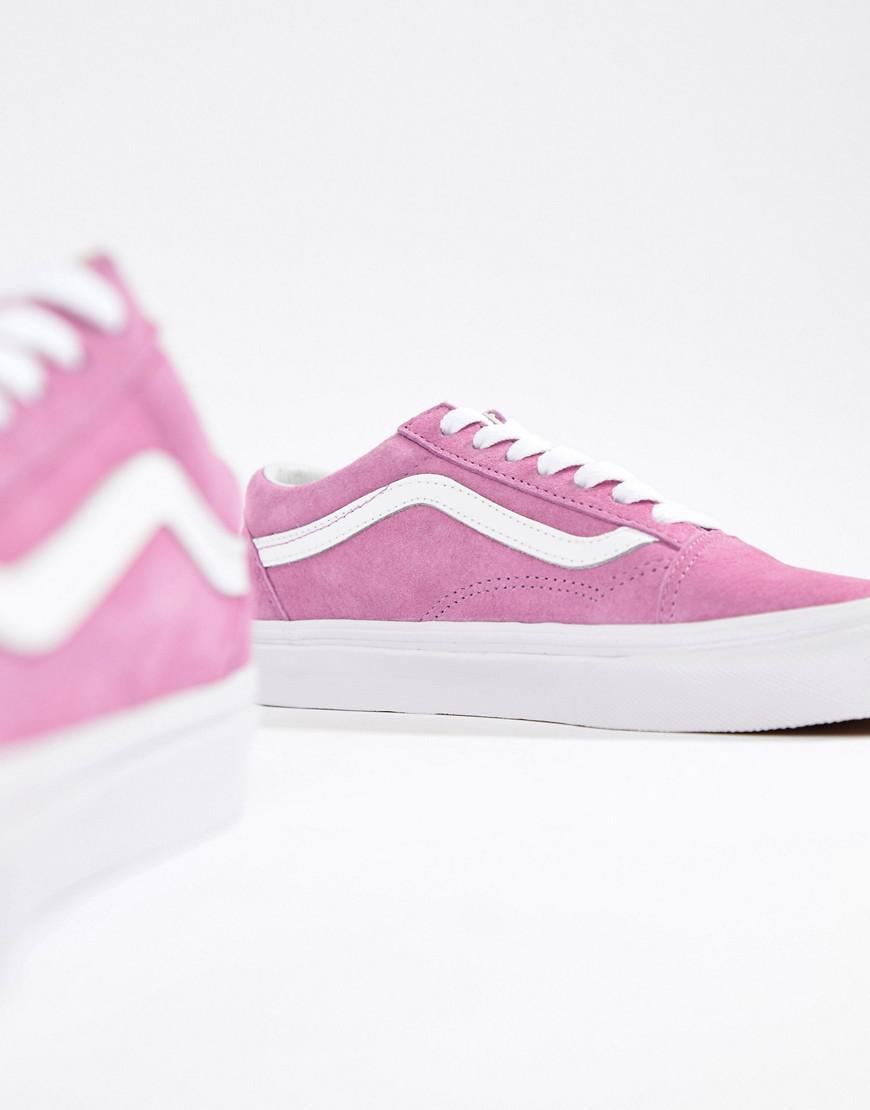 Vans Lilac Suede Old Skool Sneakers in Purple - Lyst f9478230ddbe3