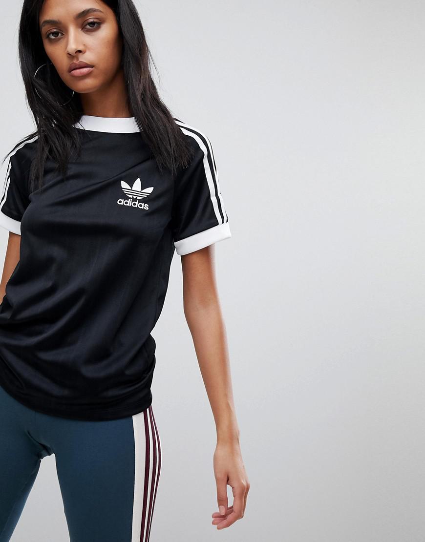5e019cc342 adidas Originals Originals Three Stripe Polyknit T-shirt In Black in ...