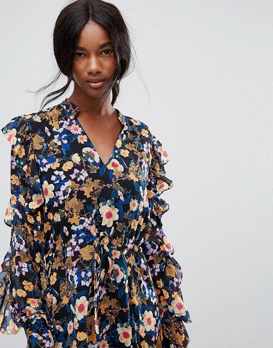 Sustainable Floral Print Mini Dress - Multi Gestuz 0VGjwmqcJ