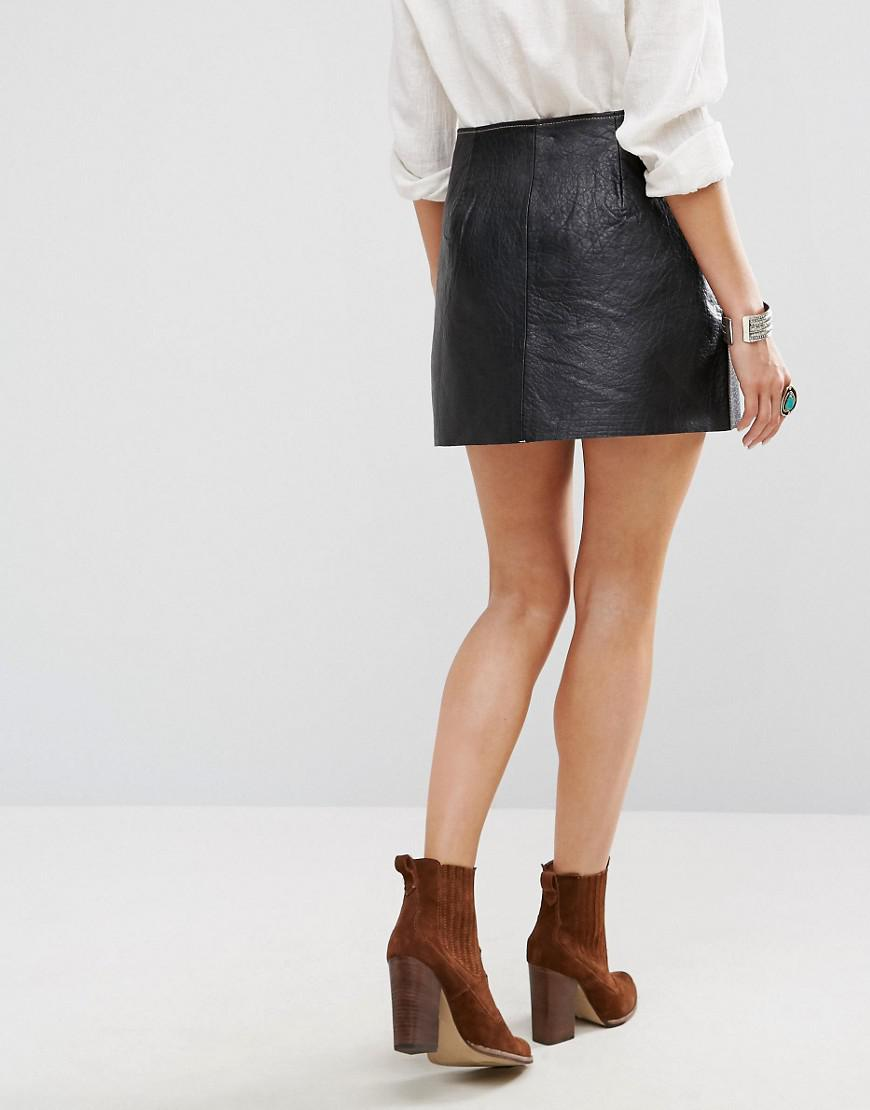 84a91d648f Gallery. Previously sold at: ASOS · Women's Leather Skirts Women's Black ...