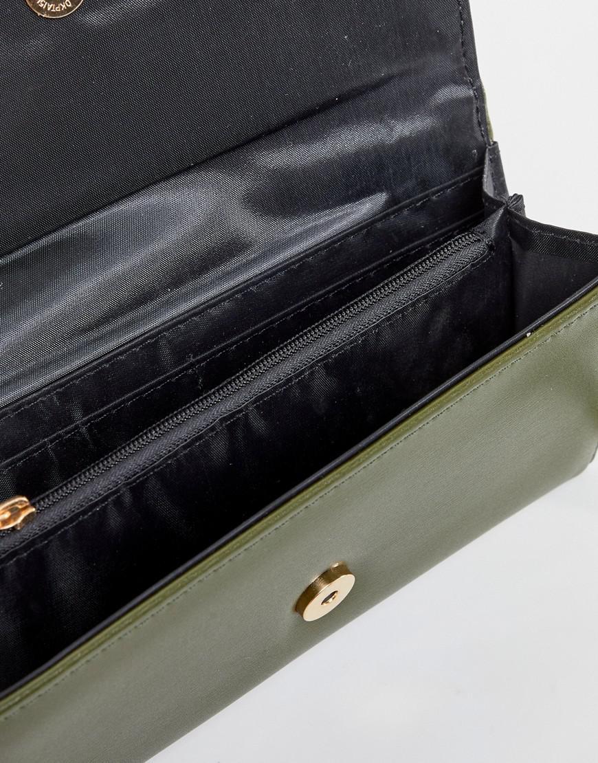 Yoki Verde Moda Sobre Caqui Cartera con 4xqPXY4I