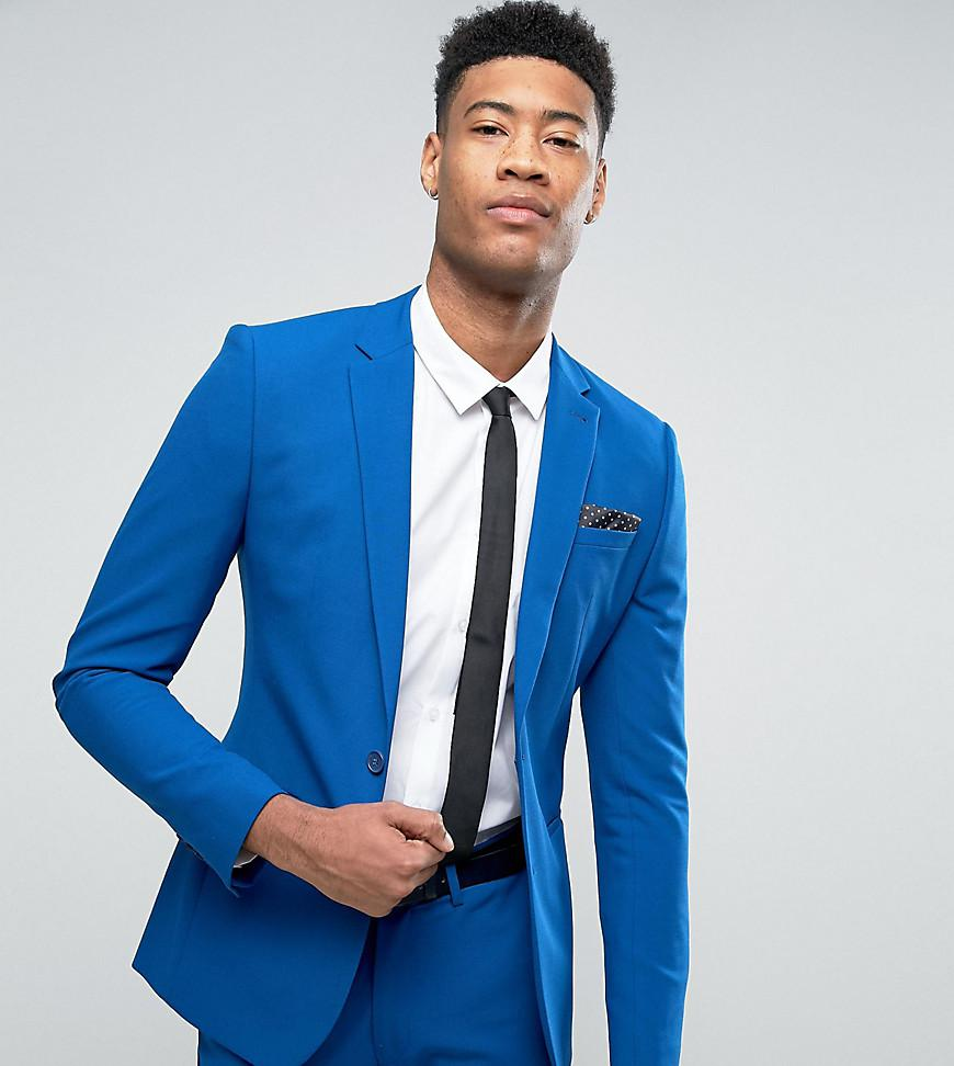 Asos Tall Super Skinny Suit Jacket In Royal Blue in Blue for Men ...