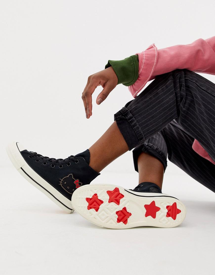 c6b1006f1b28be Lyst - Converse X Hello Kitty Chuck Taylor 70 Hi Black Sneakers in Black