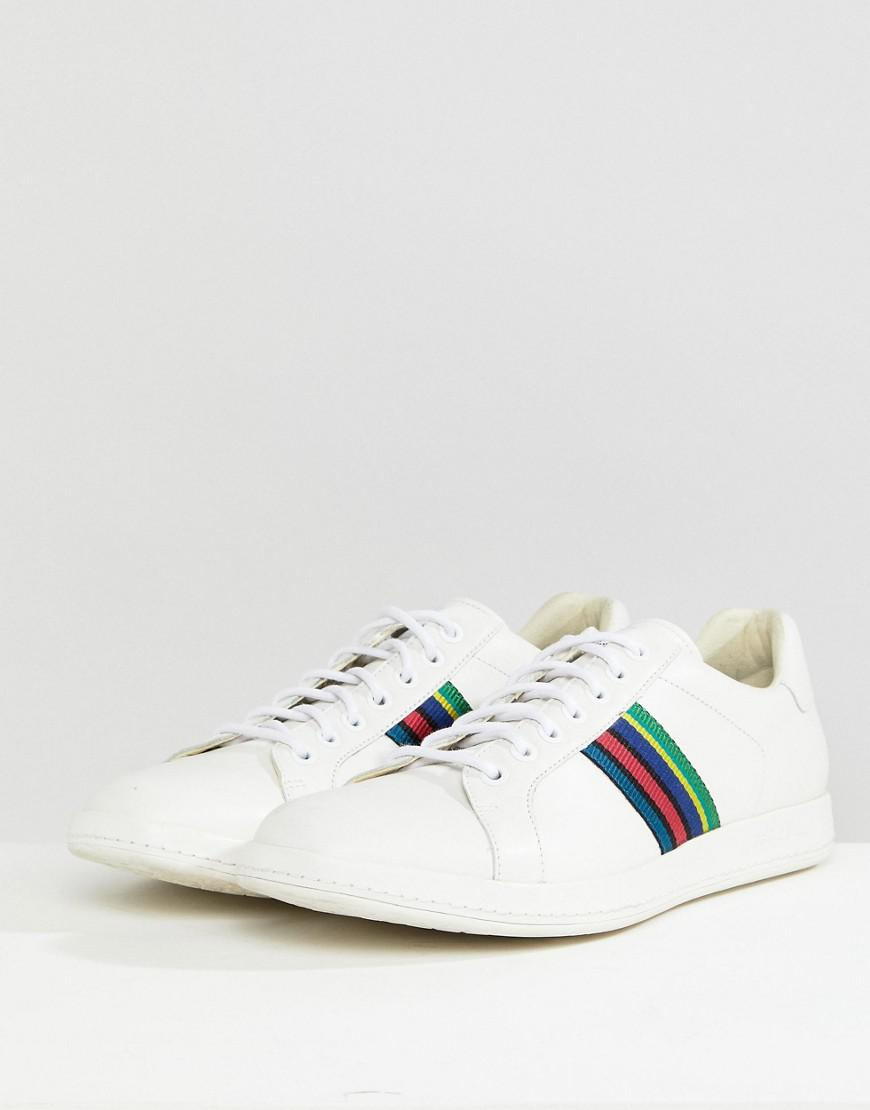 eee535677942 PS by Paul Smith Lapin Leather Trainer In White in White for Men - Lyst