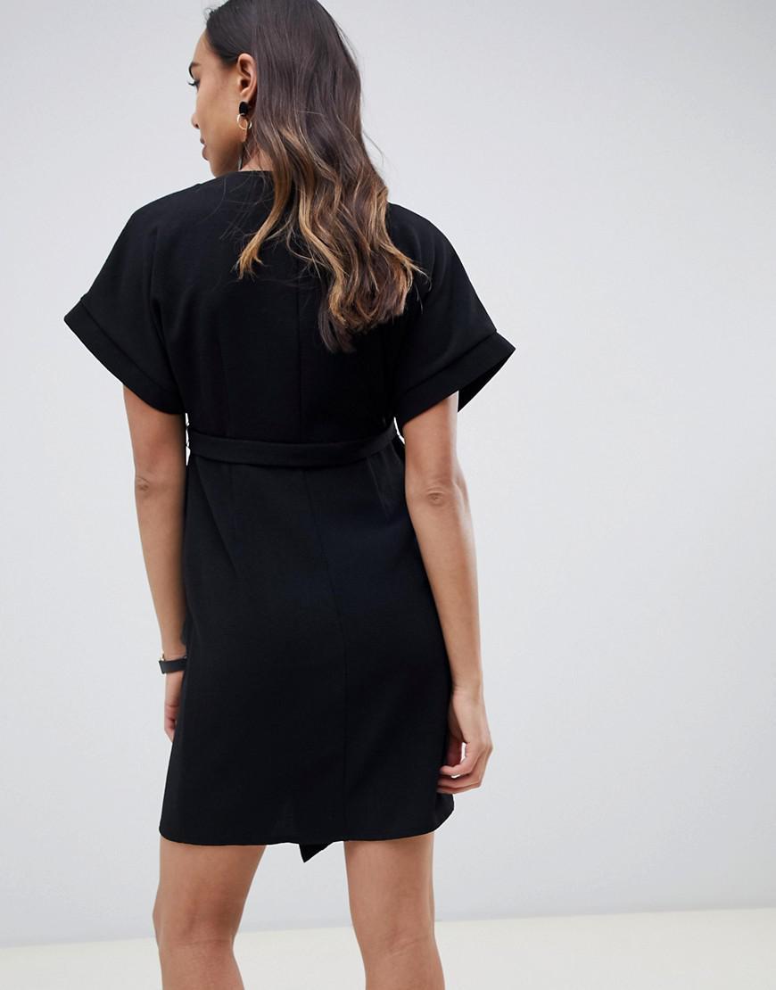 33ecfb9d5b Lyst - ASOS Asos Design Maternity Wrap Mini Dress in Black