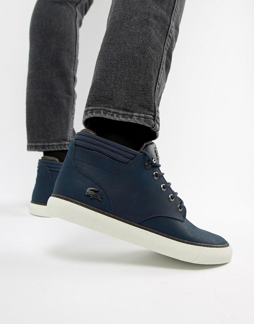 5fd0ff7c9eb8fc Lacoste Esparre Winter C 318 3 Chukka Boots In Navy in Blue for Men - Lyst