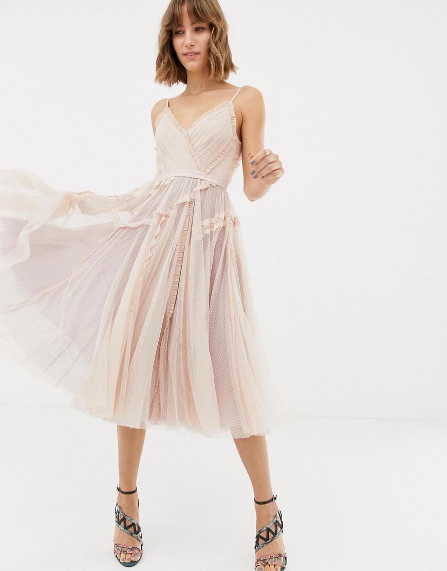 Lyst - Needle   Thread Tulle Cami Skater Dress In Rose in Pink 8117998c879