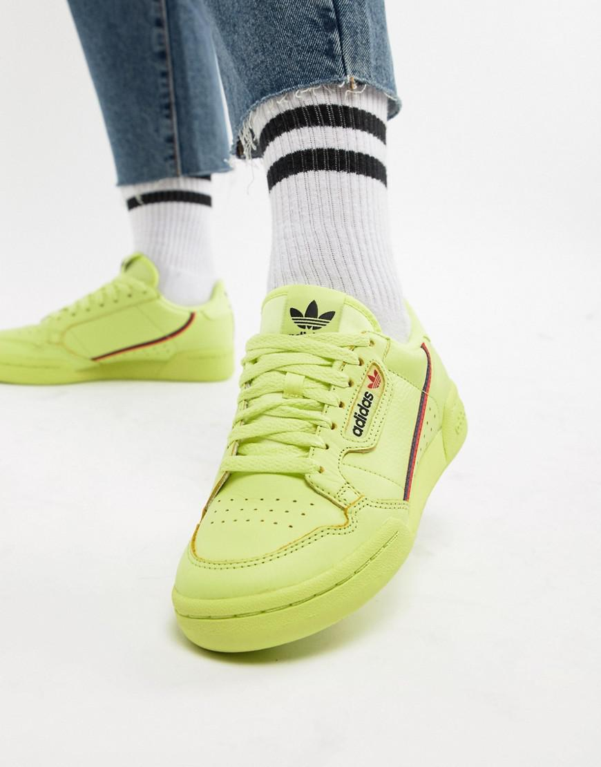 separation shoes 6b176 eae82 adidas Originals Continental 80 s Sneakers In Semi Frozen Yellow in Green -  Lyst