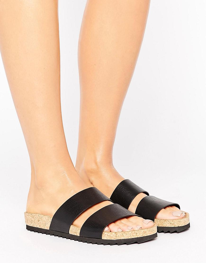 Monki Double Strap Sandal DXFHv96be