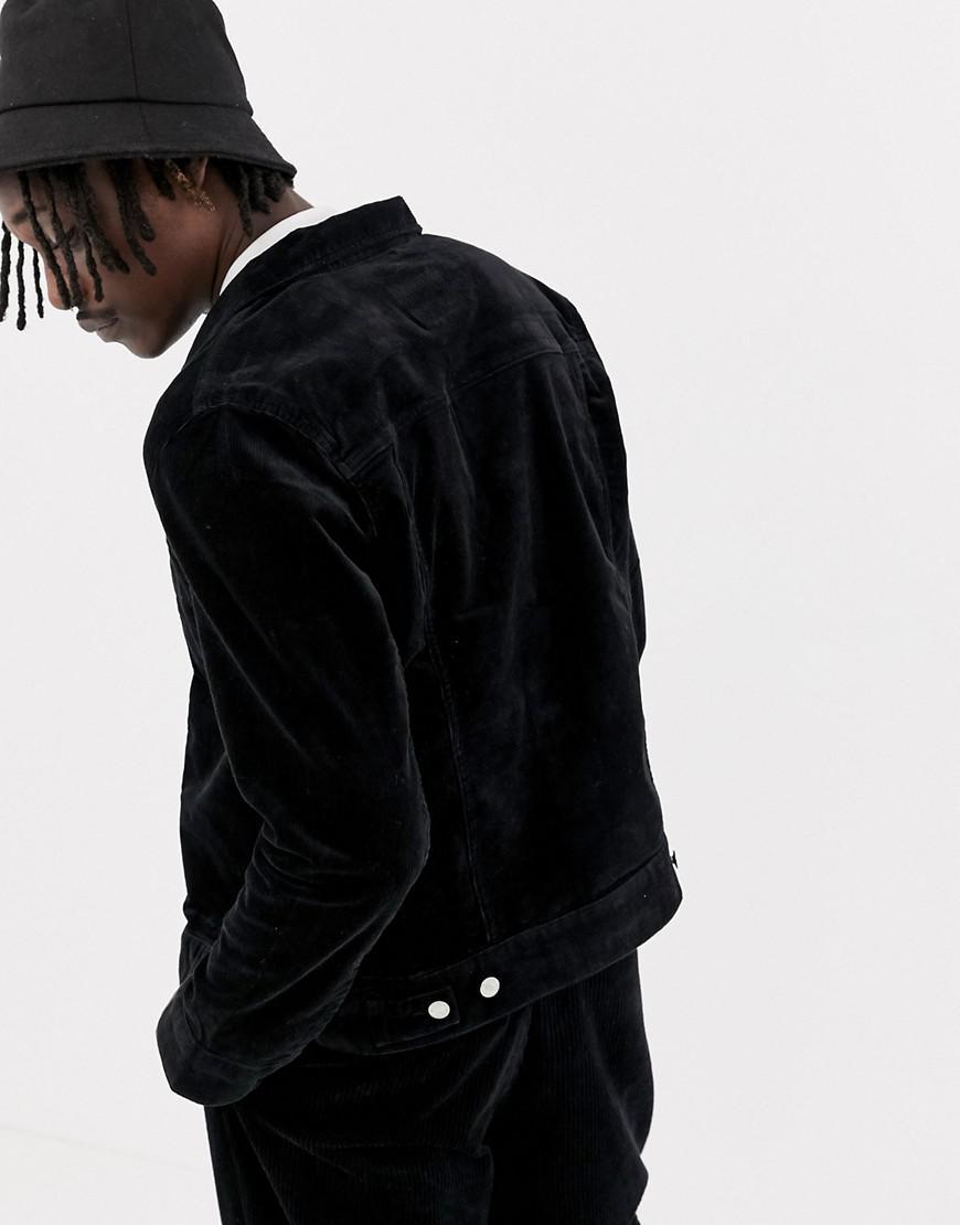 91491c627ec7 Weekday Core Black Cord Jacket in Black for Men - Lyst