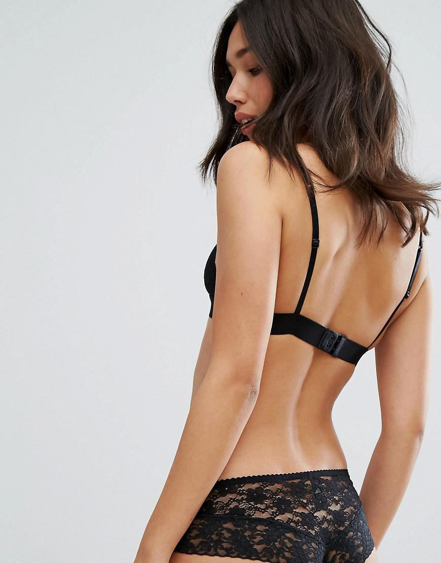 47ebed3cbb Lyst - New Look Lace Bralet in Black - Save 64%