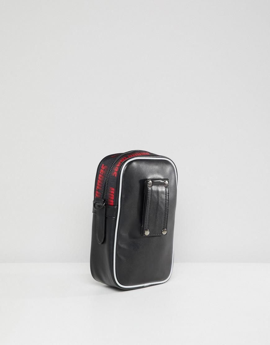 D-ANTIDOTE X Fila Cross Body Flight Bag With Large Logo in Black for Men -  Lyst f989c71f6957e