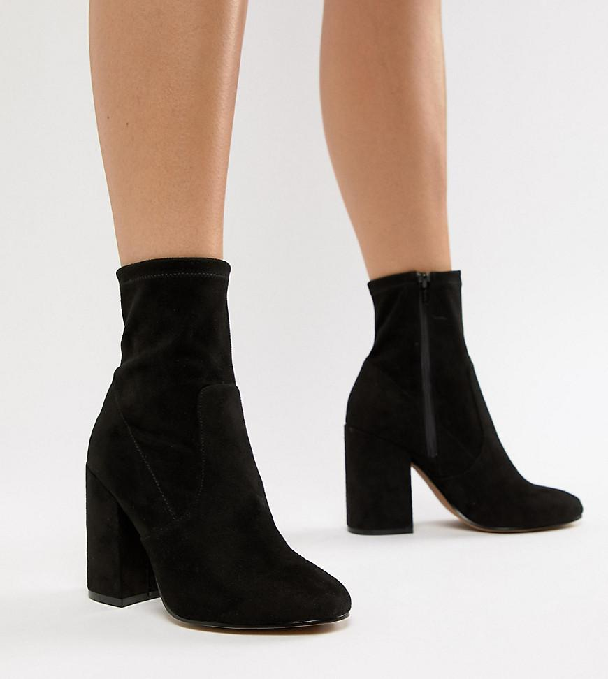 d6cd36d87bc Lyst - ASOS Wide Fit Eastern Sock Boots in Black