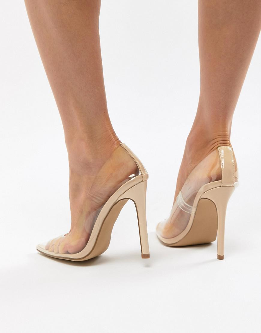 6ee9dfc3607 Public Desire Extra Clear Pumps in Natural - Lyst
