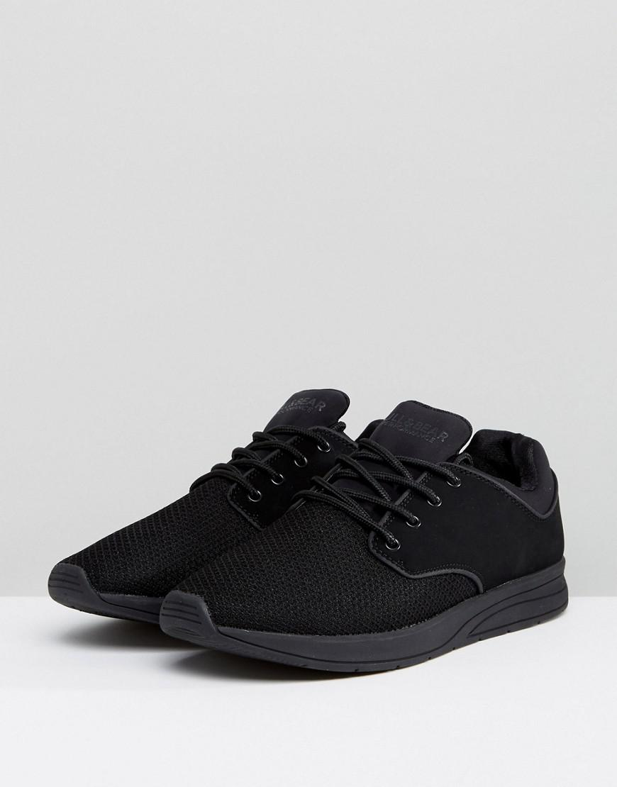 4e7a92fd8d6c Pull Bear Trainers With Mesh In Black in Black for Men - Lyst