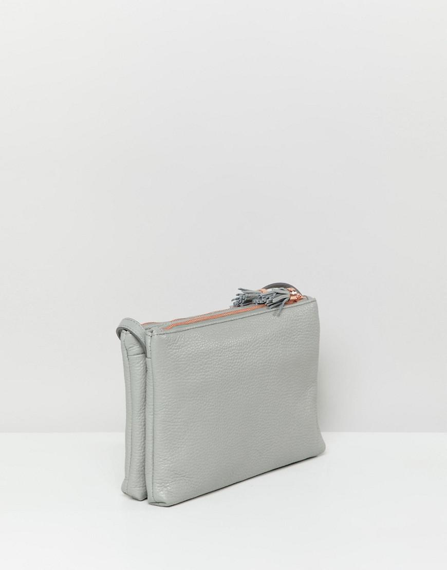 14131570dcda Lyst - Ted Baker Double Zip Cross Body Bag in Gray