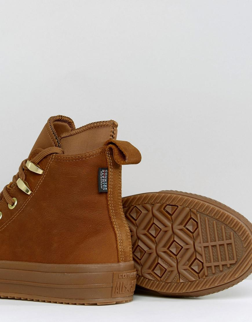 8692a6aab89366 Lyst - Converse Chuck Taylor Weatherproof Boot In Tan in Natural