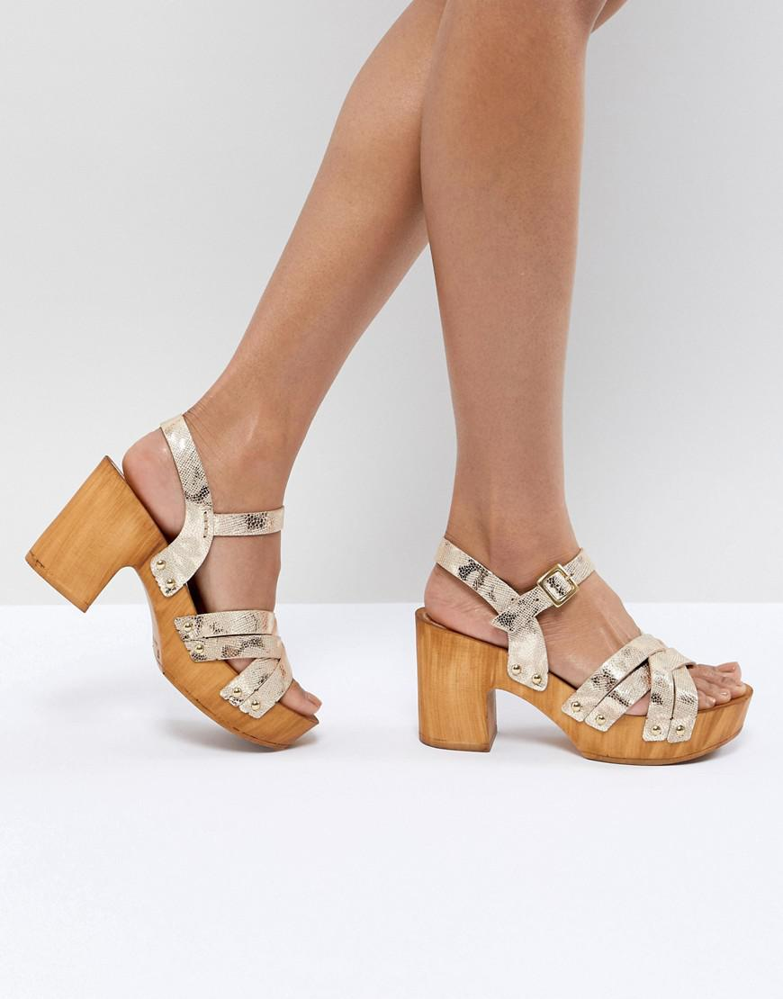 ASOS DESIGN Hamish Woven Heeled Sandals