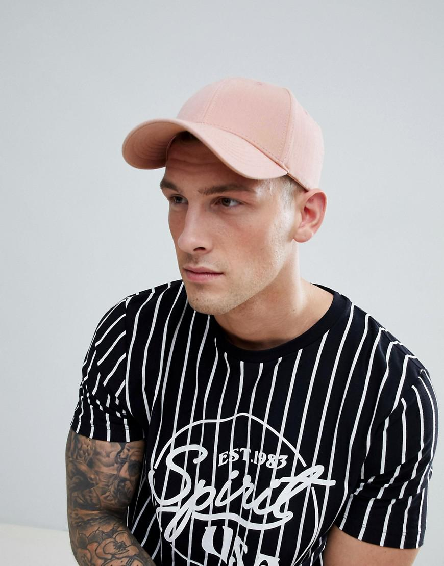 Lyst - Jack   Jones Pink Baseball Cap in Pink for Men b9f1a77bf43b