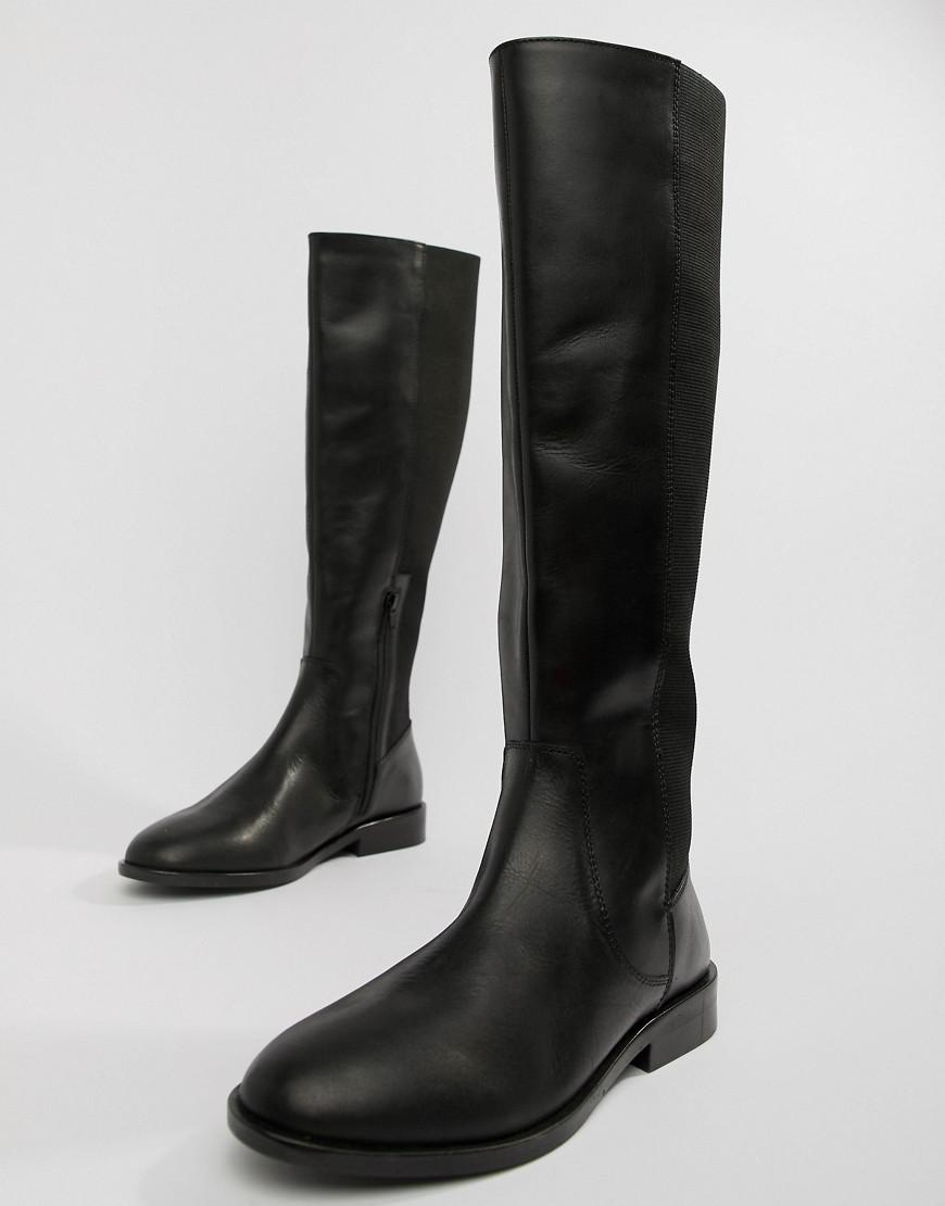 556f945e2ef Lyst - ASOS Wide Fit Extra Wide Leg Cadence Leather Riding Boots in Black