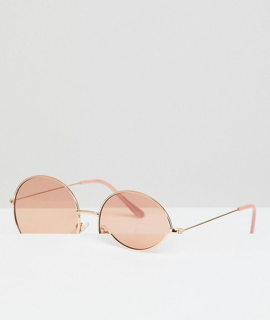 156138b103 A.J. Morgan Metal Round Sunglasses In Gold blush in Metallic for Men ...