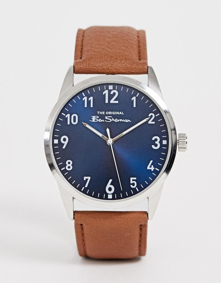 85d1df230 Ben Sherman - Mens Watch With Brown Leather Strap Bs143 for Men - Lyst.  View fullscreen