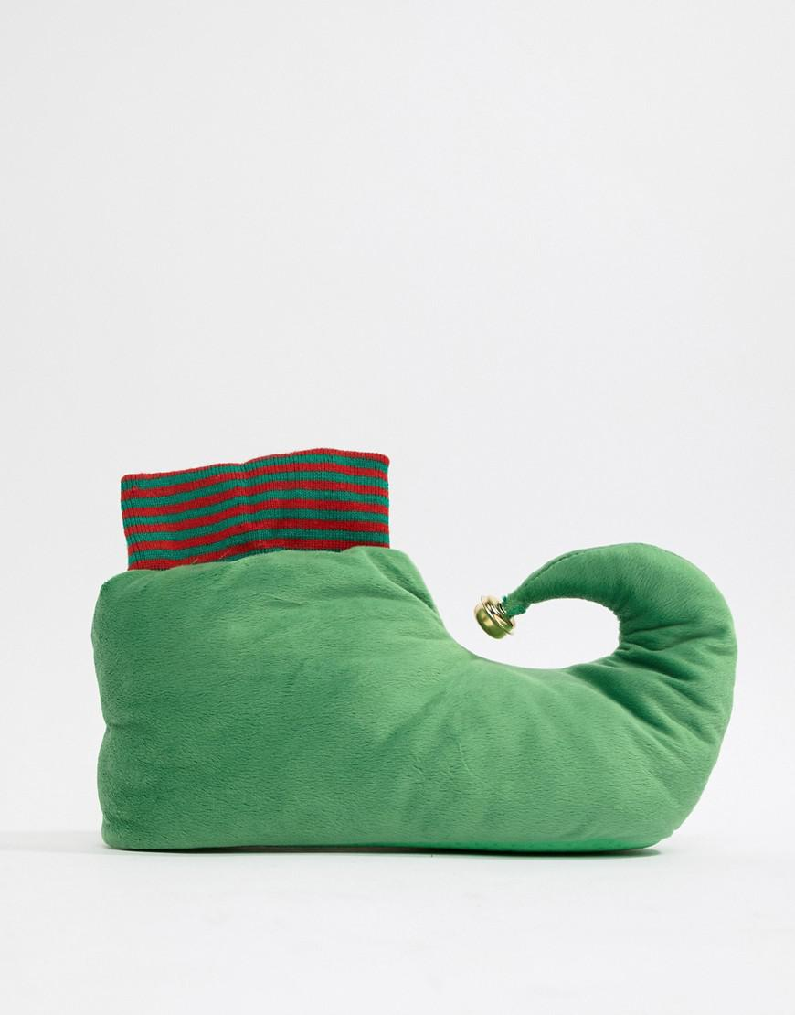 3a64e42e295 Lyst - ASOS Christmas Elf Slippers In Green With Bell in Green for Men