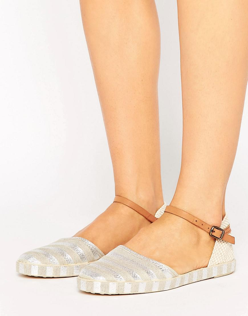 fe3293d6c2e H by Hudson Biarritz Stripe Espadrille Flat Shoes in Metallic - Lyst