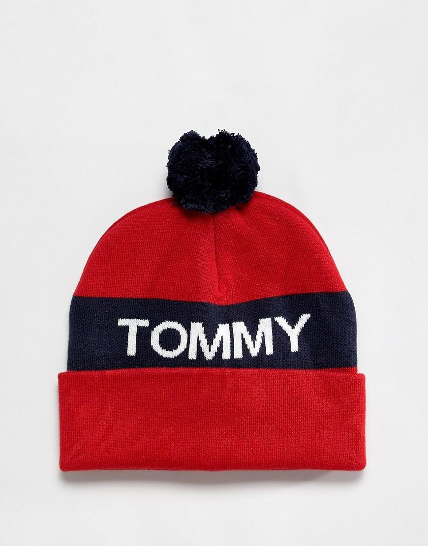 b7d2b26e Lyst - Tommy Hilfiger Rugby Stripe Beanie In Red in Blue for Men