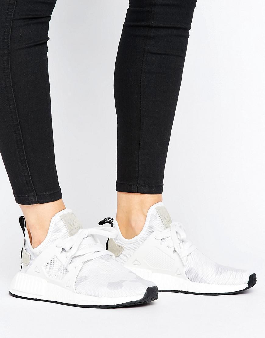 da3d17f1a adidas Originals Nmd R1 Camo-Print Sneakers in White - Lyst