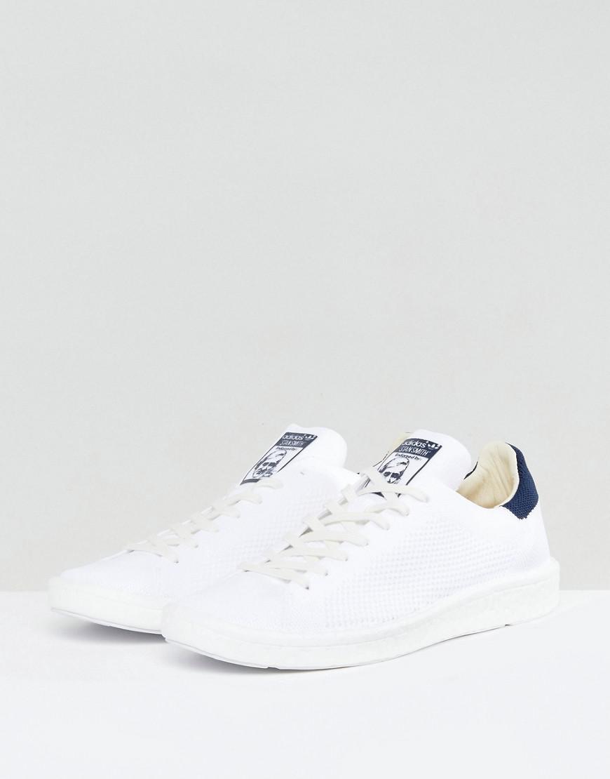 94b6087fd170dd Lyst - adidas Originals Stan Smith Boost Primeknit Trainers In White ...