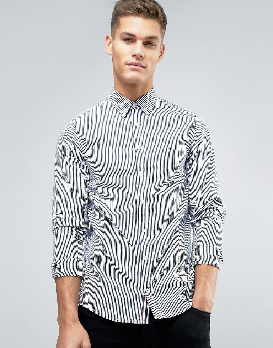 404cfa89e Tommy Hilfiger Francky Stripe Shirt Buttondown Slim Fit in Blue for ...