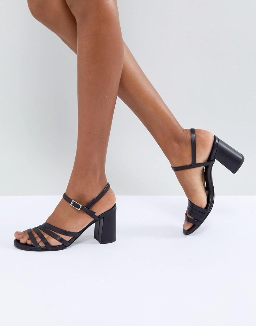 b1c54311496 Vagabond Cherie Strappy Leather Heeled Sandals in Black - Lyst