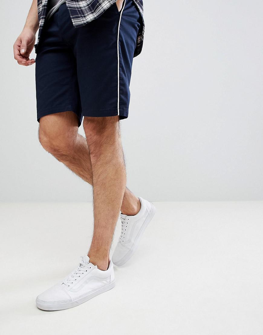 DESIGN Slim Shorts In Navy With Watermelon Print - Navy Asos KuyUFKC
