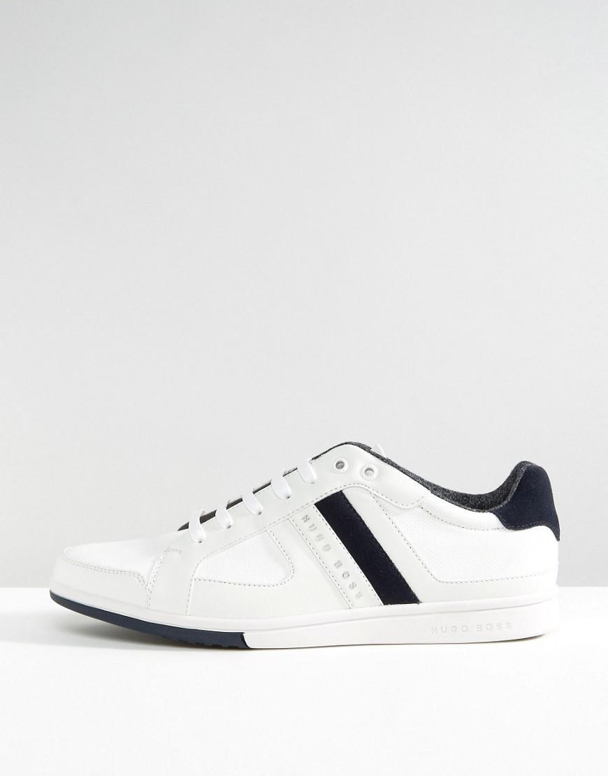 37718b248e6 BOSS Green By Hugo Boss Metro Tenn Sneakers in White for Men - Lyst