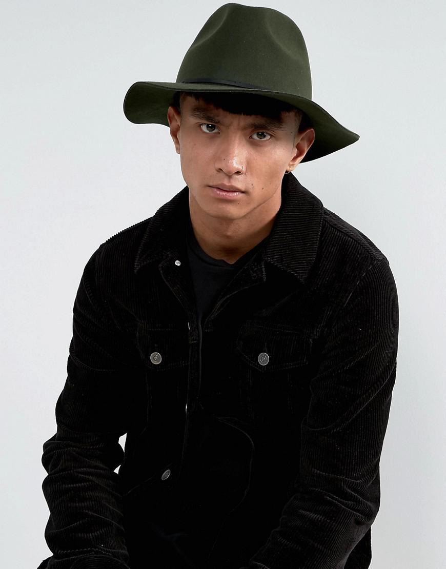 3994aab0ea446 ... new zealand lyst brixton wesley fedora hat in green for men b85c9 16966