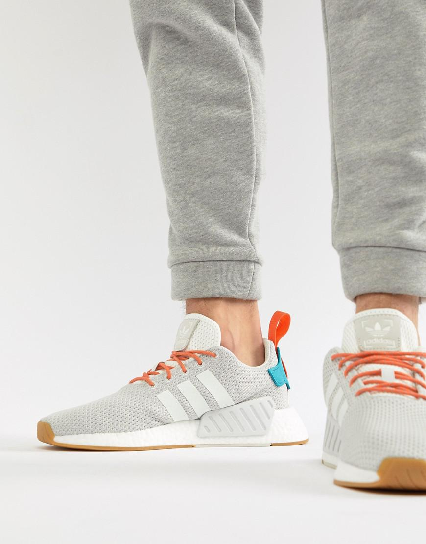 e2401e537 adidas Originals Nmd R2 Boost Summer Sneakers In White Cq3080 in ...