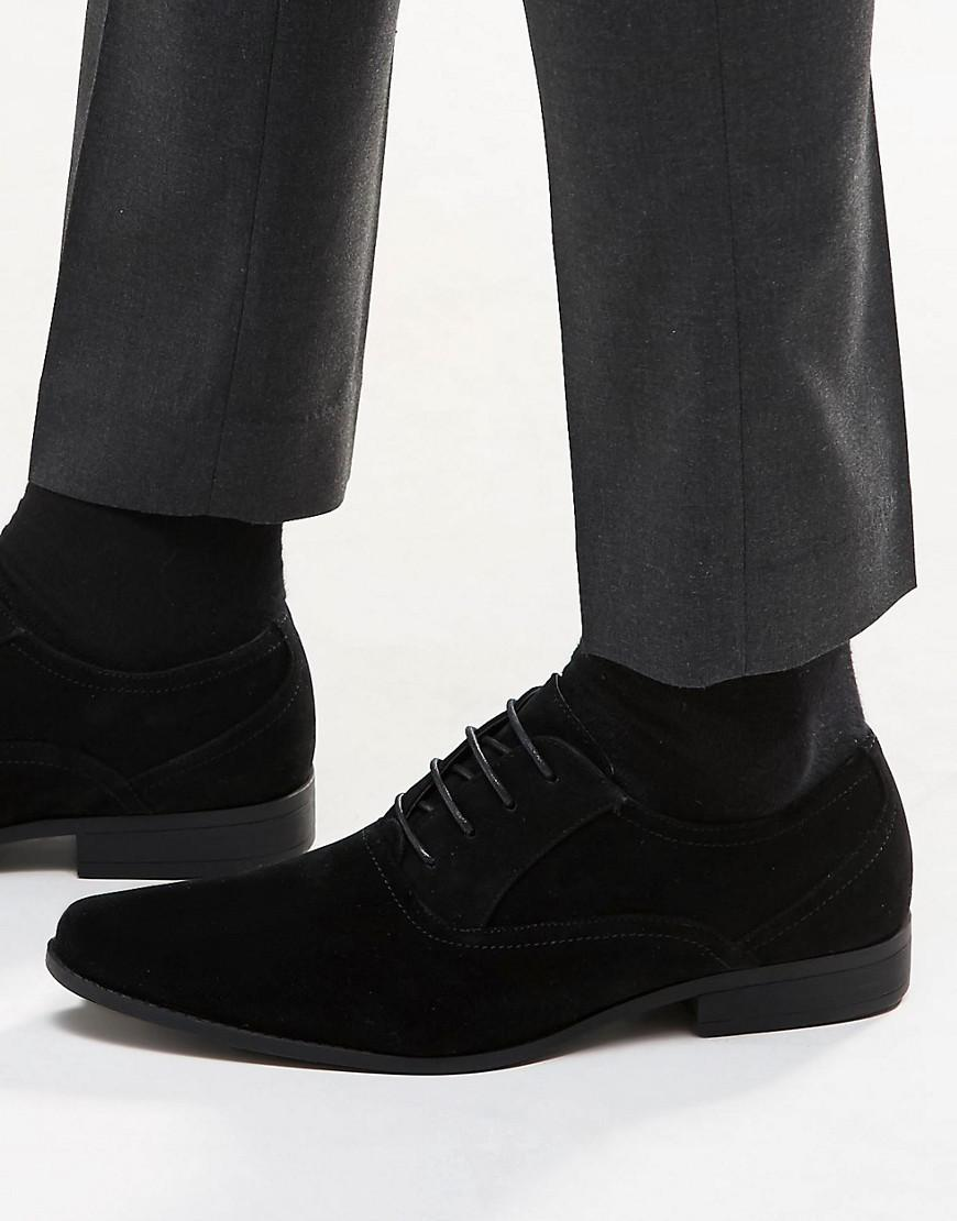 ASOS  Men's Oxford Shoes In Black Faux Suede