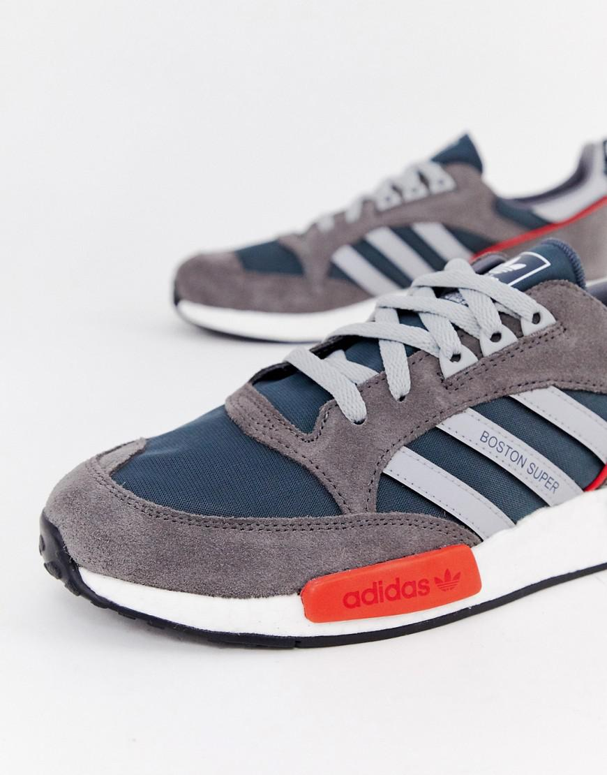 a77a353e6d5 Lyst - adidas Originals Never Made Boston Super Limited Edition Sneakers In Gray  Suede in Gray for Men
