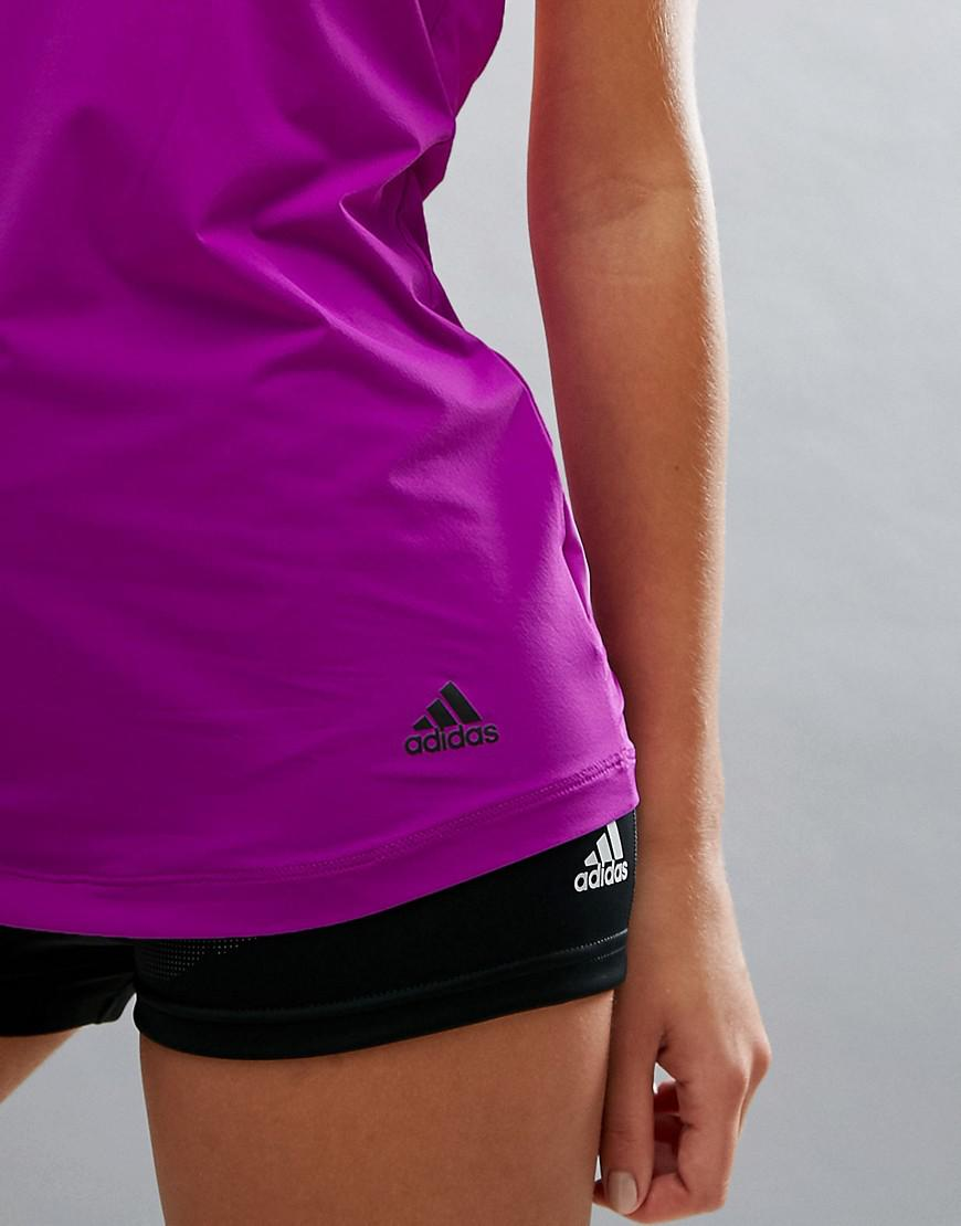 5e6590032df adidas Training Flex Bra Tank Top With Open Back in Purple - Lyst