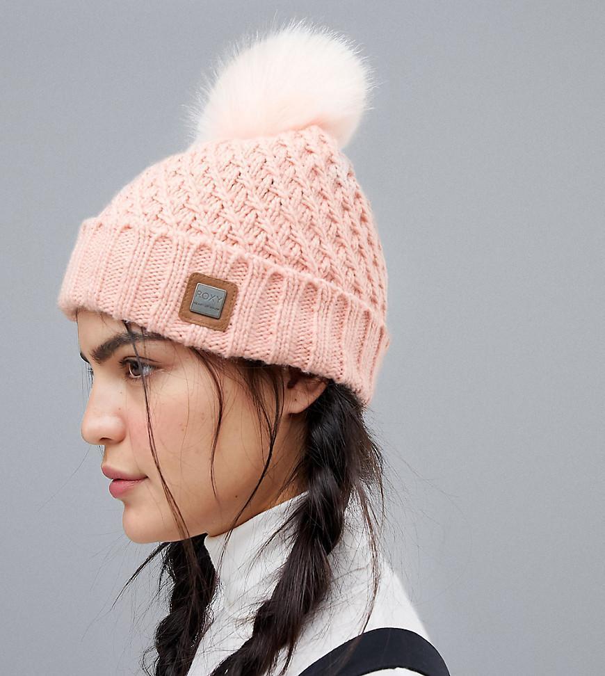 Roxy - Blizzard Beanie Hat In Pink - Lyst. View fullscreen 1d15a01e2fec